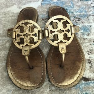 Tory Burch Miller Sandals Gold